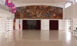 Imagen Mural del pintor Gregorio De la Fuente, pintado en la ex Estación de Ferrocarriles de La Serena