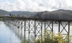 Imagen Puente viejo sobre el Río Itata